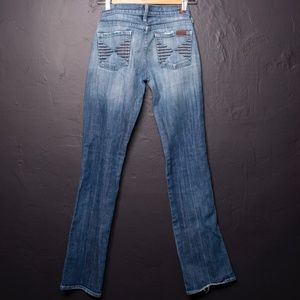 7 for all mankind Collette Straight Leg Jeans 26